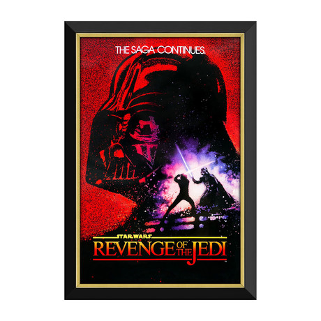 Star Wars Ep VI Revenge Of The Jedi // Framed Canvas