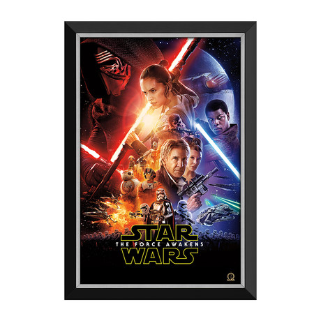 Star Wars Ep VII The Force Awakens // Official Movie Poster // Framed Canvas