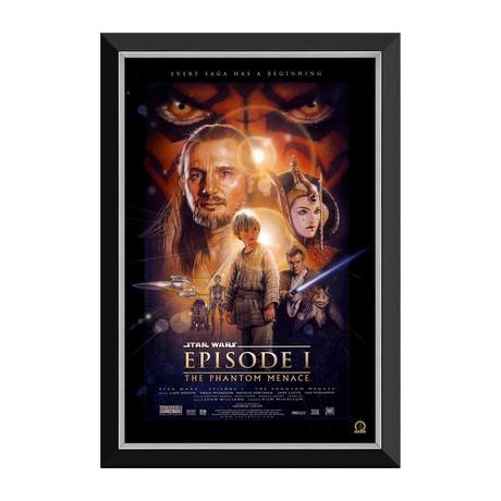 Star Wars Ep I The Phantom Menace // Vintage Movie Poster // Framed Canvas