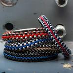 Allegiance Stainless Steel Bracelet + Wax Cord // Blue Steel