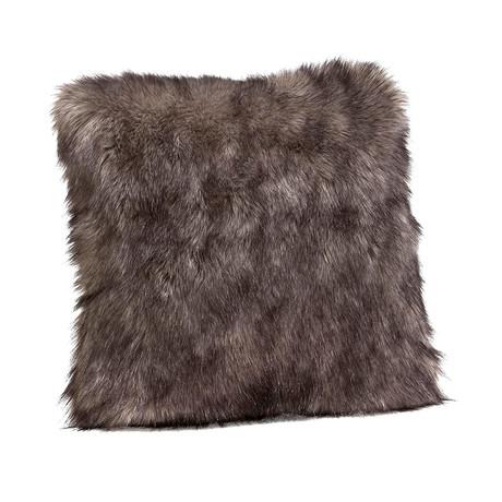 Couture Faux Fur Decorative Pillow (Bamboo Tibetan Lamb)
