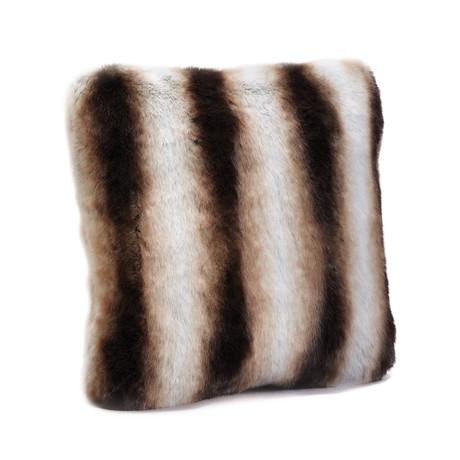 Couture Faux Fur Euro Pillow // Chinchilla