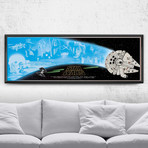 "Star Wars Alternative Movie Poster // A New Hope (24""W x 9""H)"