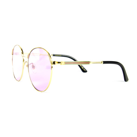 Women's Round Sunglasses // Violet + Gold