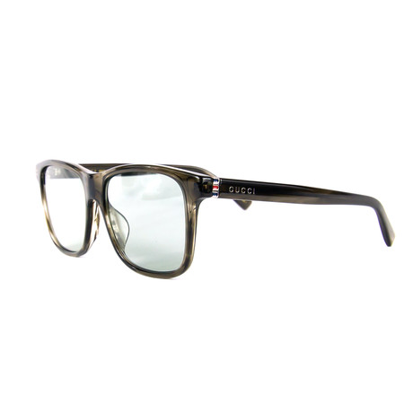 Men's Rectangular Sunglasses // Gray + Havana