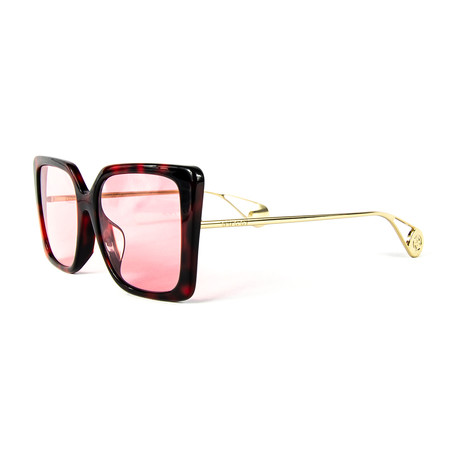 Women's Square Sunglasses // Pink + Havana