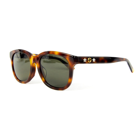 Women's Square Sunglasses // Havana