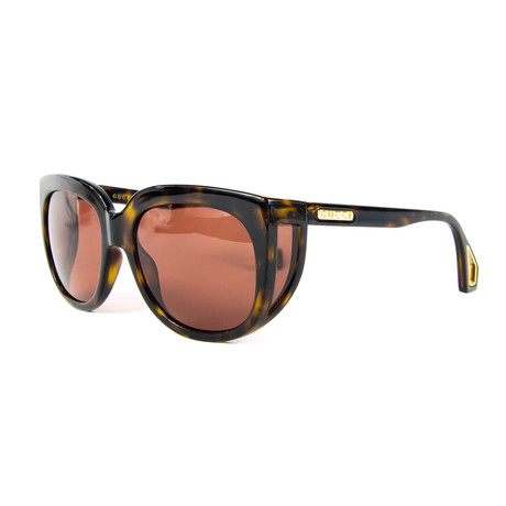Women's Rectangular Sunglasses // Brown