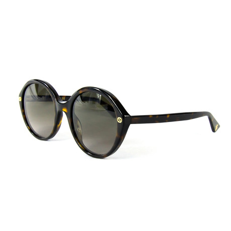 Women's Round Sunglasses // Havana