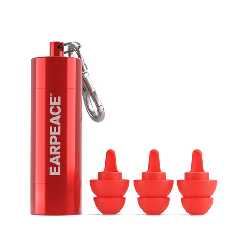 EarPeace S // Safety Ear Plugs // Red Case (Single Pack)