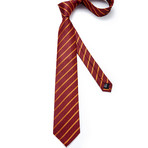 Hill Handmade Silk Tie // Red + Gold