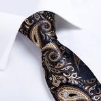 Romero Silk Tie // Navy + Tan