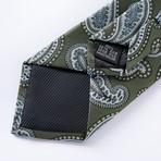 Tauro Silk Tie // Olive