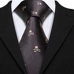 Fargo Handmade Silk Tie // Black