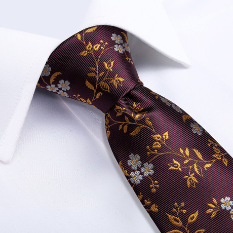 Frisco Handmade Silk Tie // Burgundy