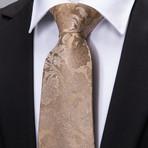 Cruz Silk Tie // Beige