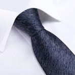 Deville Handmade Silk Tie // Charcoal + Navy