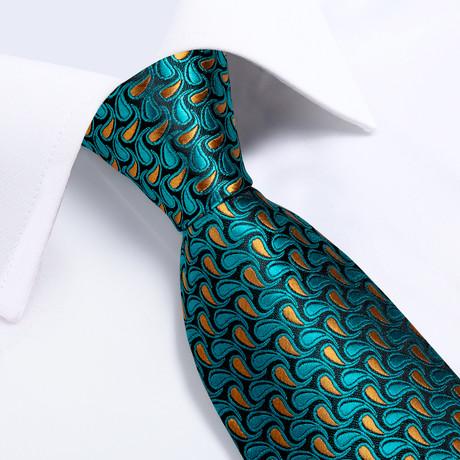 Kapers Silk Tie // Teal