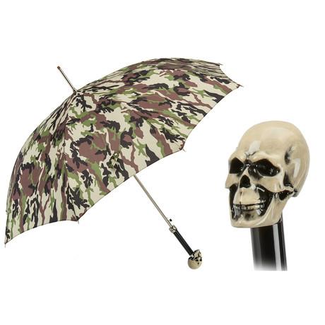 Camo Print Skull Umbrella