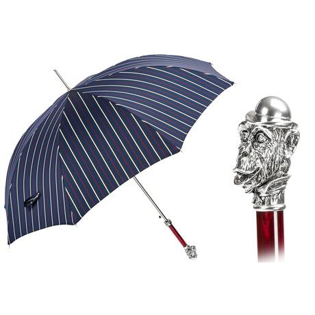 Silver Monkey Striped Umbrella