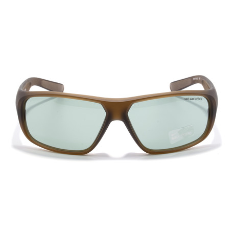 Unisex Sunglasses // Matte Crystal + Military Brown + Green