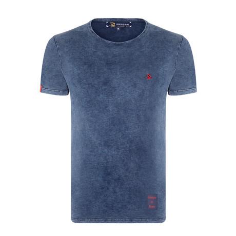 Duzce Tie-Dyed T-Shirt // Navy (XS)