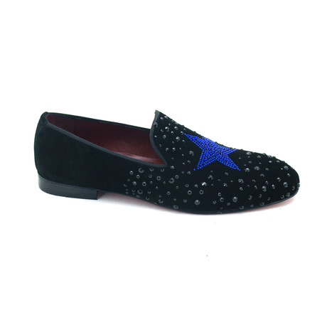 Delano Dress Shoes // Black + Blue (Euro: 39)