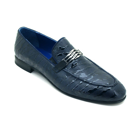 Jevon Dress Shoes // Dark Blue (Euro: 39)
