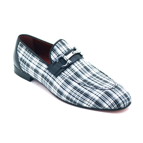 Aldan Dress Shoes // Black + White (Euro: 39)