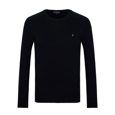 Shelby Crew Neck Sweater // Navy (S)
