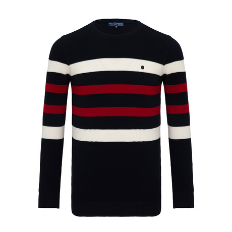 Buck Crew Neck Sweater // Navy (S)