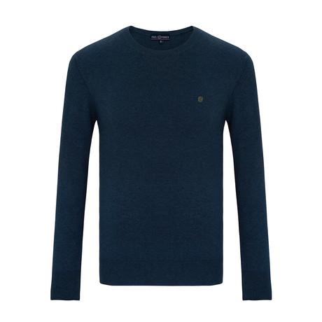 Jamie Crew Neck Sweater // Indigo (S)