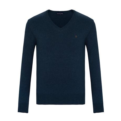 Ray V-Neck Sweater // Indigo (S)