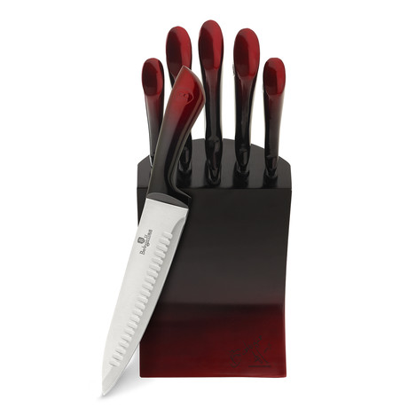 Limited Edition Knife Set + Stainless Steel Block // 6pcs
