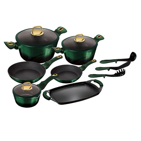 Emerald Collection Cookware Set // 14pcs