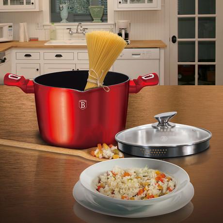Pasta & Rice Pot + Lid // Marble Coating (Metallic Line Carbon Edition)