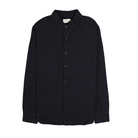 Aetna Shirt // Black + Herringbone (S)