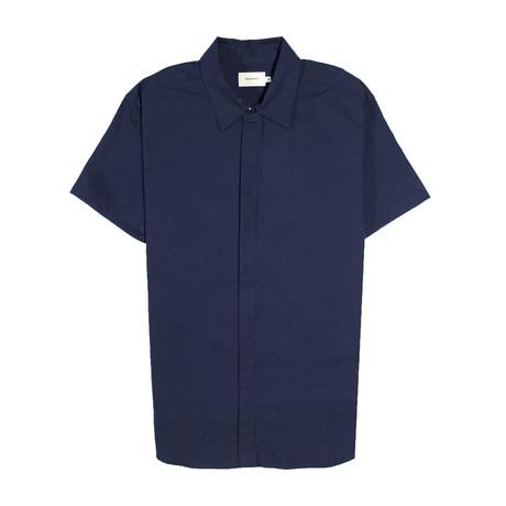 Foster Shirt // Navy Linen (S)