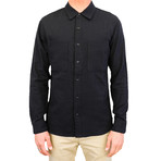 Aetna Shirt // Black + Herringbone (XL)