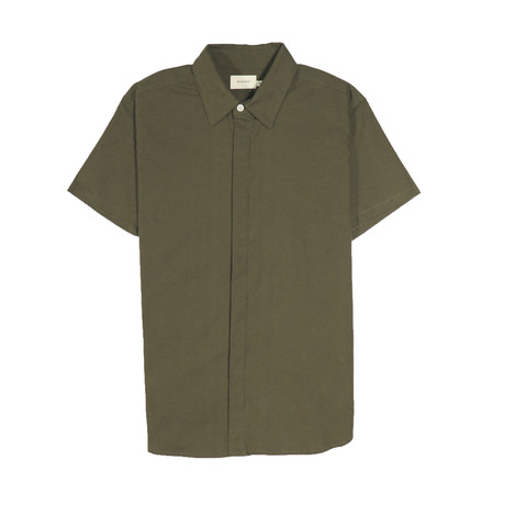 Foster Shirt // Olive Linen (S)
