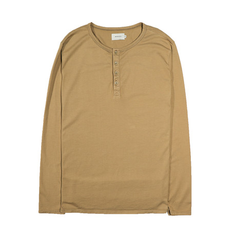 Basis Long Sleeve Henley // Sand (S)