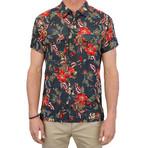Maricopa Shirt // Black Hibiscus (M)