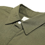 Foster Shirt // Olive Linen (L)
