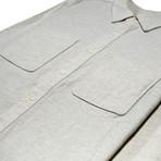 Aetna Shirt // Chalk + Herringbone (M)