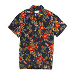Maricopa Shirt // Black Hibiscus (S)