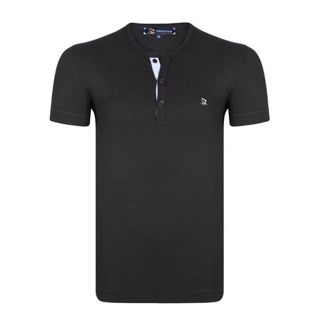 Darica Waffle Knit T-Shirt // Black (XS)