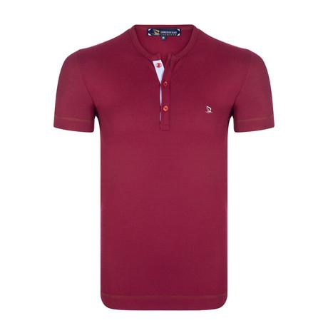 Golcuk Waffle Knit T-Shirt // Bordeaux (XS)