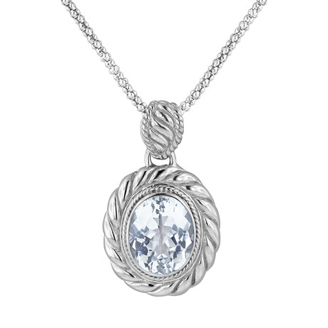 Women's White Topaz Necklace