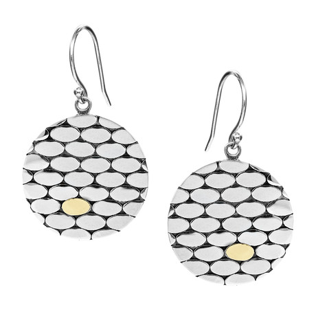 Women's Two-Tone Earrings // Silver + Gold