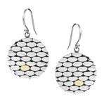 Women's Two-Tone Earrings // Silver + Gold
